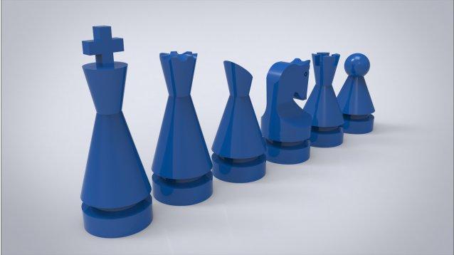 modern chess set / fabbly